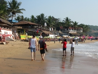 Crowded Goa Beach