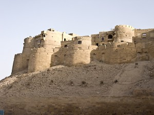 The walls of Jaisalmer Fort.