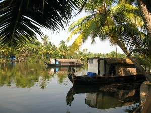 Houseboats for touring backwaters of Kerala.