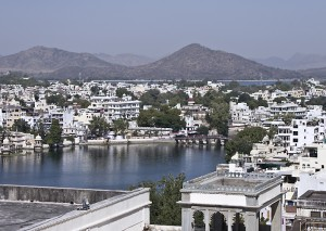 Lake Pichola, in the heart of Udaipur.