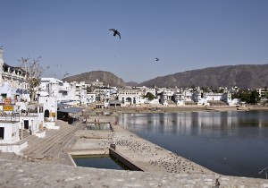 The holy lake in the heart of Pushkar.