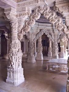 Intricate stonework in a Jain temple, Jaisalmer.