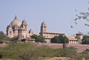 The 20-century Umaid Bhawan Palace in Jodhpur.